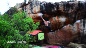 "The progress of trying a boulder multiple times! Daniel Woods boulder ""Gold Virgina"" 8a/V11"