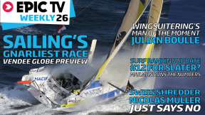 EpicTV Weekly 26: Snowboarder Nicolas Müller, Wingsuit Champion Julian Boule, Surf Rankings Update, Sailing's Gnarliest Race