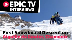 First Snowboard Descent on Aiguille du Gouter, Chamonix