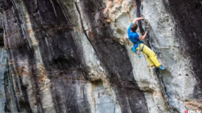 Bouldering World Cup, James Pearson's Trad Route in Italy