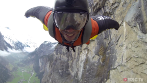 Wingsuit Flight Through a Waterfall in Lauterbrunnen - Planet Douggs - Ep.1