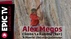 Alex Megos Climbs 'La Rambla' 9a+ and 'A Muerte' 9a on his 2nd Attempt