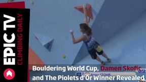 Bouldering World Cup, Damen Skofic, and 2013 Piolets d'Or Winner