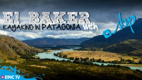 Kayaking the rio Baker in Patagonia, Chile