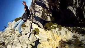 Trampoline BASE Jumping, Man-Chucking in Verdon | Going Aerial With Black Arm, Ep. 1