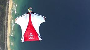 World Cup Wingsuit Flight Over Rio de Janeiro - COME ON ENGLAND!