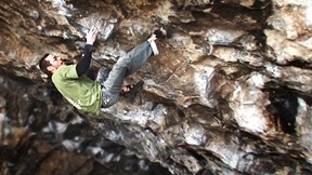 Gareth Parry Has Brutish 8a+ Battle in Cave Life Climb | HARDXS from Slackjaw Film, Ep. 6