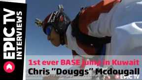 1st ever BASE jump in Kuwait, Chris 'Douggs' McDougall