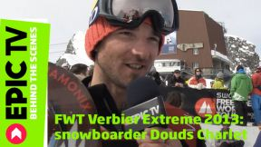 FWT Verbier Extreme 2013: snowboarder Douds Charlet