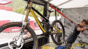 Val di Sole World Cup Goes Gear Geek in the Pits - Handlebar Steve