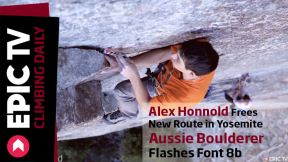 Alex Honnold Frees New Route in Yosemite, Aussie Boulderer Flashes Font 8b