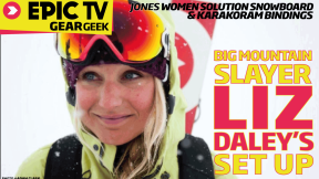 EpicTV Gear Geek: Jones Splitboard and Karakoram Binders with Liz Daley