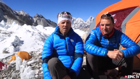Simone Moro & Ueli Steck - Everest Without Oxygen 2013 - Base Camp
