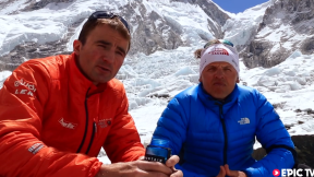 Ueli Steck & Simone Moro - Everest Without Oxygen 2013 - Camp 2