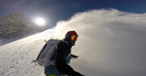 Surfing Down The Glacier Rond | Late Season Heat Doesn't Stop You Snowboarding In Chamonix