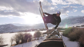 The Midway Train Gap | Street Skiing's Biggest Names Boost Over An Abandoned Train
