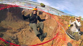 The Mothership Spacenet | BASE Jumping From A Suspended Web In Moab, Utah