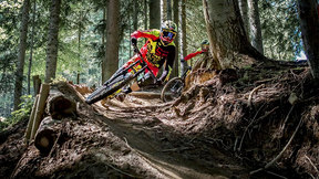 Devinci - Devinci's Mark Wallace & Dean Lucas enjoy some quality riding in the Morzine Bike Park