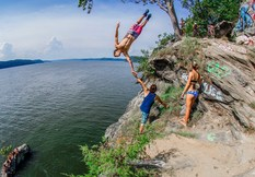 East Coast Cliff Diving | Cliff Jumpers Show Off Their Skills