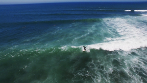 Surfing Portugal | Flying Above Beautiful Blue Ocean Waters