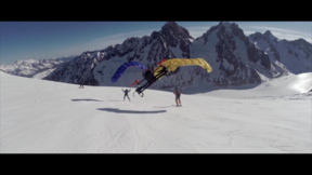 Parrot - First airdrop from a speed-ride to a base jump with the Flying Frenchies
