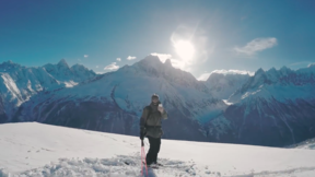 SKI TOURING alone in Chamonix with Hexo+
