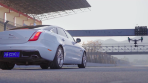 DJI - Behind the Scenes - DJI Inspire Pro VS Jaguar XJ Race