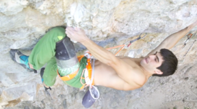"Jon Cardwell Ascending ""Shadow Boxing"" 5.14d"