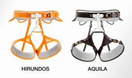 Petzl - High-end climbing and mountaineering harnesses (HIRUNDOS & AQUILA)