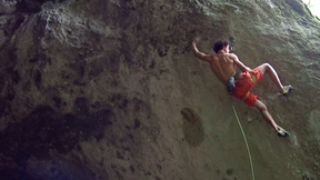 Adam Ondra Makes Second Ascent Of Alex Megos' Geocache (9a+)