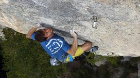 Stefano Ghisolfi Battles For Goldrake, 9a+, With An Injured Finger