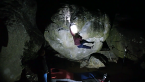 Hannes Puman Climbing Big golden (7C+) In Fontainebleau