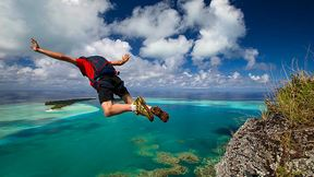 Base Jumping in Tahiti