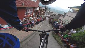 A Super Aggressive Line Through The 2015 Manizales Urban Downhill Course | Urban Legend, Ep. 23