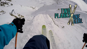 The Freeride World Tour Hits Chamonix, How To Stay Safe In The Backcountry | 2 Planks 1 Girl, ep. 8