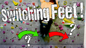 Rock Climbing Technique for Beginners : How to Switch Feet.